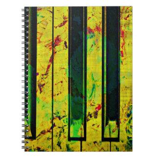 De Piano van de Sleutel van de muziek Ringband Notitie Boek