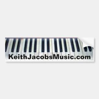 De piano van Keith Jacobs sluit bumpersticker