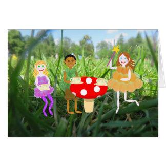 De Picknick van de Giftige paddestoel van de fee Kaart