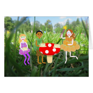 De Picknick van de Giftige paddestoel van de fee Wenskaart
