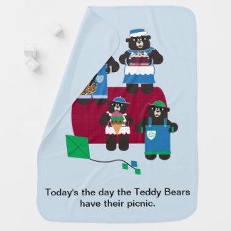 De Picknick van de teddybeer Inbakerdoek