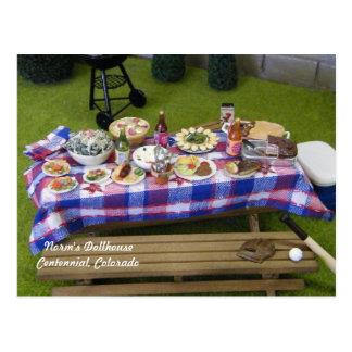 De Picknick van de Zomer van het poppenhuis Briefkaart