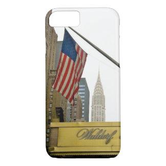 De pictogrammen van New York - Waldorf en de Bouw iPhone 8/7 Hoesje