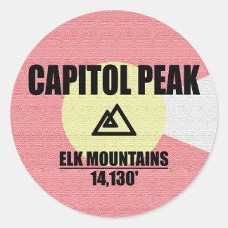 De Piek van het Capitool Ronde Sticker
