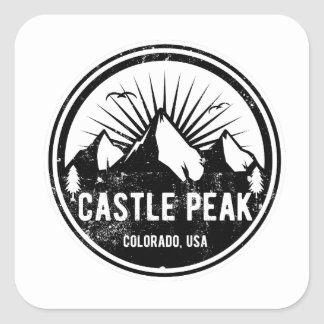 De Piek van het kasteel, Colorado Vierkante Sticker