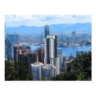 De Piek van Victoria in het Briefkaart van HK