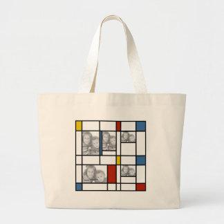 De Piet Mondrian Geïnspireerde Zak van de Sjabloon Grote Draagtas