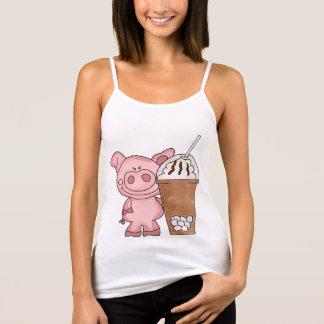 De piggy) Tanktop van de cafeïne van de Verslaafde