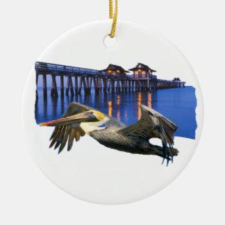 De Pijler van de pelikaan Rond Keramisch Ornament