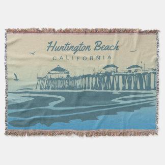 De Pijler van het Strand van Huntington, CA - de Deken