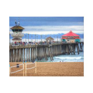 De Pijler van het Strand van Huntington, Canvas Afdruk