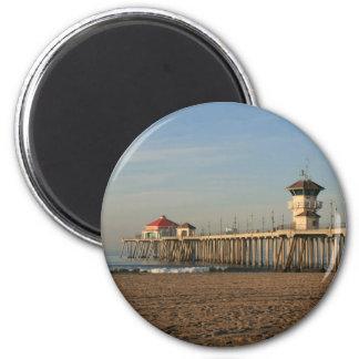 De pijler van het Strand van Huntington Magneet