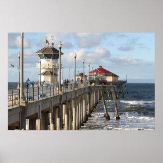 De Pijler van het Strand van Huntington Poster