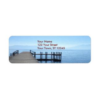 De Pijler van Tahoe van het meer Etiket
