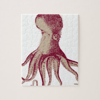 De Pijlinktvis van Kraken van de octopus Foto Puzzels