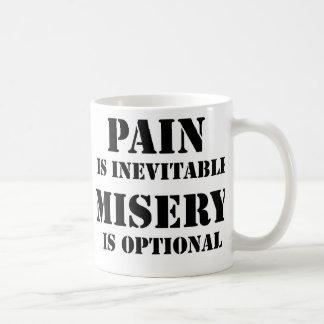 De pijn is onvermijdelijk koffiemok