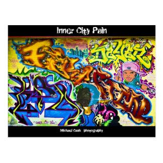 De Pijn van de binnenStad Briefkaart