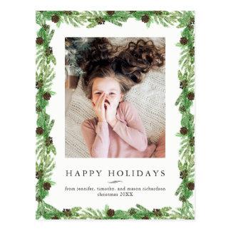 De Pijnboom van de vakantie | Foto van Kerstmis Briefkaart