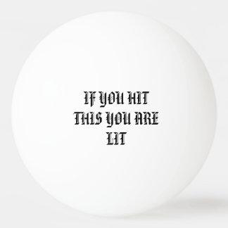 De pingpongbal van lit