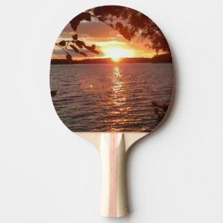 De pingpongpeddel van de zonsondergang tafeltennis bat