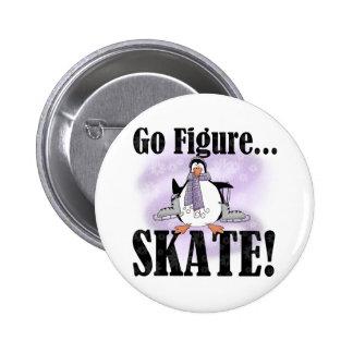De pinguïn gaat Kunstschaats Ronde Button 5,7 Cm