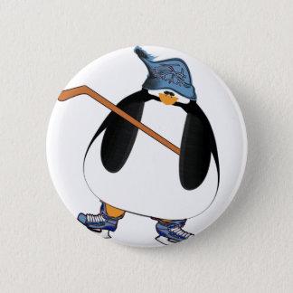 De Pinguïn van het hockey Ronde Button 5,7 Cm
