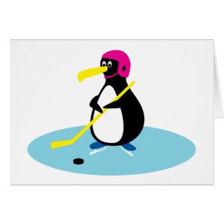 De Pinguïn van het ijshockey Wenskaart