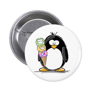 De Pinguïn van het roomijs Ronde Button 5,7 Cm