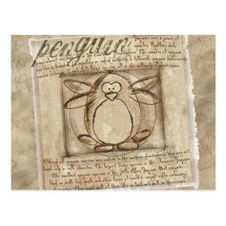 De Pinguïn van Vitruvian Briefkaart
