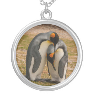 De pinguïnen die van de koning, de Falkland Zilver Vergulden Ketting