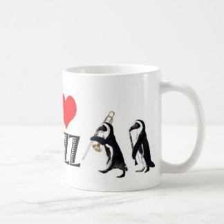 De pinguïnmok van de jazz koffiemok