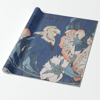 De Pioenen en de Kanarie van Hokusai van Inpakpapier