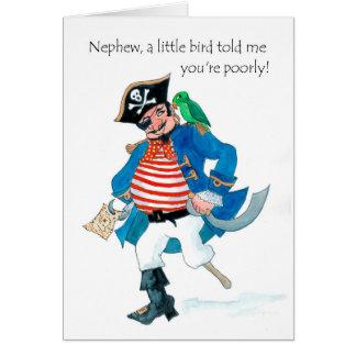 De Piraat en de Papegaai van de pret worden goed Briefkaarten 0