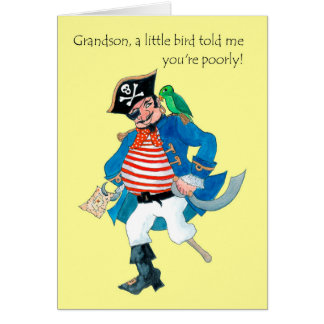 De Piraat en de Papegaai van de pret worden goed Kaart