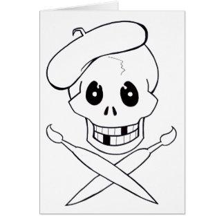 De Piraat van Arrrrtist (Schedel en Gekruiste Kaart