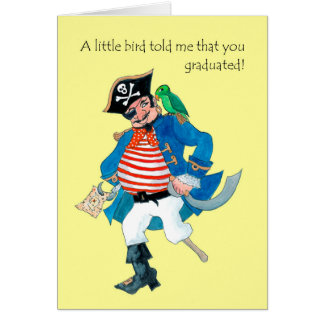 De Piraat van de pret, de Gelukwensen van de Kaart