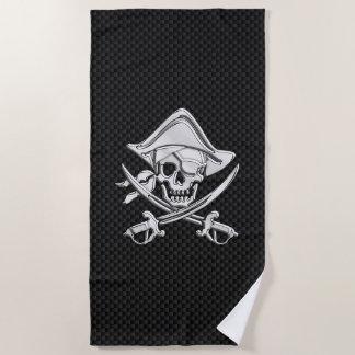 De Piraat van het chroom op het Decor van de Druk Strandlaken