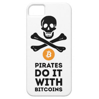 De piraathoesje van Bitcoin Barely There iPhone 5 Hoesje