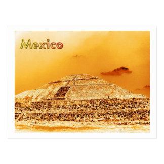 De Piramide van de Zon van Mexico Briefkaart