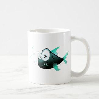 De Piranha van de cartoon Koffie Beker