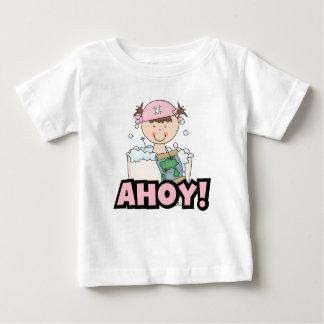 De Piraten van de badkuip - de Donkerbruine Baby T Shirts
