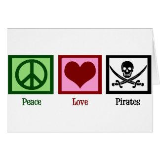 De Piraten van de Liefde van de vrede Briefkaarten 0