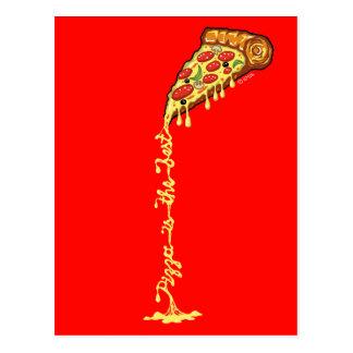 De pizza is het beste briefkaart