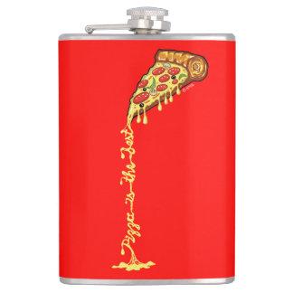 De pizza is het beste heupfles