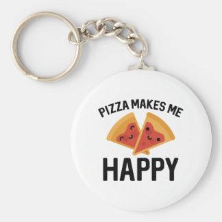 De pizza maakt me Gelukkig Sleutelhanger