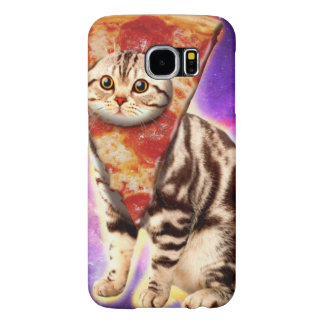 De pizza van de kat - kattenruimte - kat memes samsung galaxy s6  hoesje