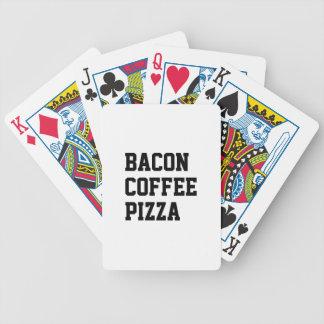 De Pizza van de Koffie van het bacon Bicycle Speelkaarten