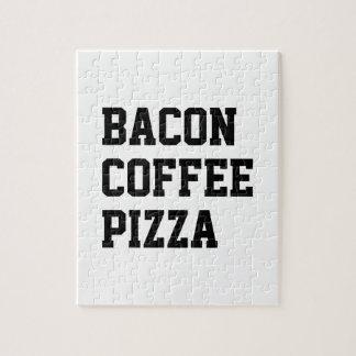 De Pizza van de Koffie van het bacon Puzzels