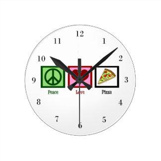 De Pizza van de Liefde van de vrede Ronde Klok