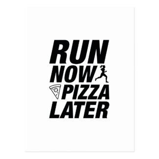 De Pizza van de looppas nu later Briefkaart